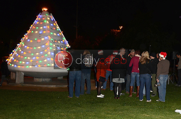 Guests<br /> at the Charles Phoenix Apollo Space Capsule Holiday Lighting and Donut Exchange Party where an actual Apollo Spacecraft is lit up like a Christmas Tree, Columbia Memorial Space Center, Downey, CA 12-03-16<br /> David Edwards/DailyCeleb.com 818-249-4998