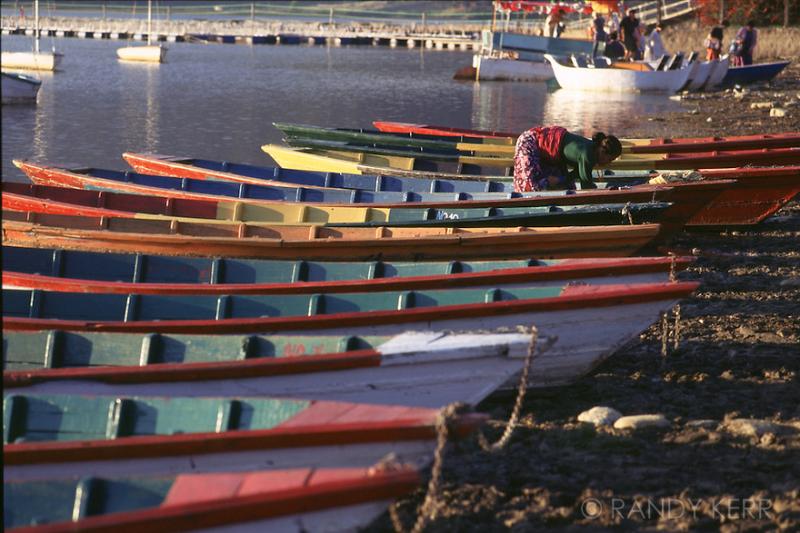Boats on Fewa Lake
