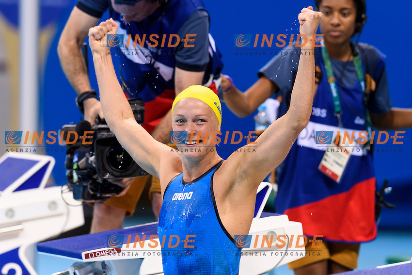 SJOSTROM Sarah SWE <br /> Gold Medal and World record Women's 100m Butterfly <br /> Rio de Janeiro 07-08-2016 Olympic Aquatics Stadium <br /> Swimming Nuoto <br /> Foto Andrea Staccioli/Deepbluemedia/Insidefoto