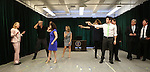 Kerry Butler (L) with the ensemble cast during the 'Clinton The Musical' - Sneak Peek at Ripley Grier Studios on March 4, 2015 in New York City.