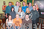 Pat Joy from Listowel seated centre celebrated his 30th birthday with family and friends in The Saddle bar Listowel on Friday night. Picture front l-r Tracey Curtin, Pat Joy (birthday), Maurice Joy. Middle row l-r Mags and Foley, Emma Lazzar, back row l-r Willie Buckley, Tommy Foley, Paul and Noel Deenihan, Barry Murphy, Paul Heffernan and Becicy Lyodd.   Copyright Kerry's Eye 2008