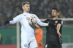 06.02.2019,  GER; DFB Pokal, Holstein Kiel vs FC Augsburg ,DFL REGULATIONS PROHIBIT ANY USE OF PHOTOGRAPHS AS IMAGE SEQUENCES AND/OR QUASI-VIDEO, im Bild Rani Khedira (Augsburg #08) versucht sich gegen Alexander Muehling (Mühling Kiel #08) durchzusetzen Foto © nordphoto / Witke *** Local Caption ***