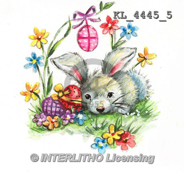 Interlitho, EASTER, OSTERN, PASCUA, paintings+++++,KL4445/5,#e# rabbits