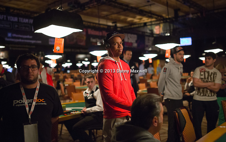 Phil Ivey taking in the Jerry Buss Tribute
