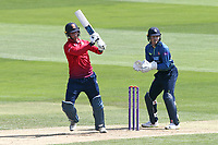 Tom Westley in batting action for Essex as Sam Billings looks on from behind the stumps during Essex Eagles vs Kent Spitfires, Royal London One-Day Cup Cricket at The Cloudfm County Ground on 6th June 2018