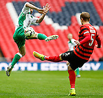 LONDON, ENGLAND - MARCH 29: Adam Bolder of North Ferriby United (left) and Blaine Hudson of Wrexham (right) during the FA Carlsberg Trophy Final 2015 at Wembley Stadium on March 29, 2054 in London, England. (Photo by Dacid Horn/EAP)