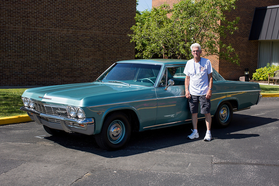 1965 Modified Junior (#11) – 1965 Chevrolet Bel Air 2-Door Post registered to Morry Fromm is pictured during 4th State Representative Chevy Show on Thursday, June 30, 2016, in Fort Wayne, Indiana. (Photo by James Brosher)