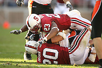 18 November 2006: Brandon Harrison and Clinton Snyder during Stanford's 30-7 loss to Oregon State at Stanford Stadium in Stanford, CA.
