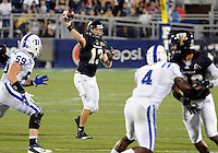 Florida International University football player quarterback Wesley Carroll (13)  plays against the Duke University on October 01, 2011 at Miami, Florida. Duke won the game 31-27. .