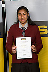 Girls Volleyball winner Margaret Lafaele from McAuley High School. ASB College Sport Young Sportperson of the Year Awards 2008 held at Eden Park, Auckland, on Thursday November 13th, 2008.