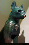 Gayer-Anderson Cat, Bastet, Silver-inlaid Bronze and Gold, Saqqara, Egypt, 600 BC, British Museum, London, England, UK