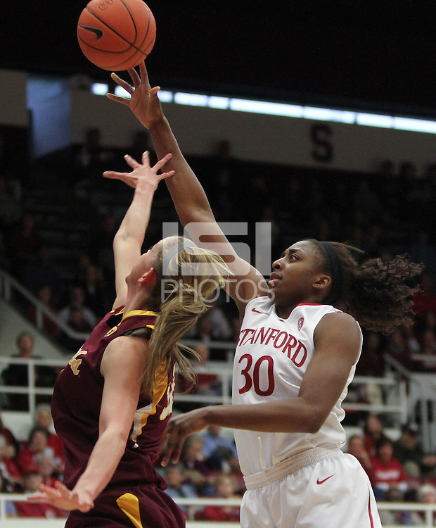 STANFORD, CA:  Nnemkadi Ogwumike during Stanford's 82-35 victory over Arizona State at Stanford, California on January 8, 2011.