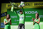 Peter Sagan (SVK) Bora-Hansgrohe retains the points Green Jersey at the end of Stage 9 of the 2019 Tour de France running 170.5km from Saint-Etienne to Brioude, France. 14th July 2019.<br /> Picture: ASO/Pauline Ballet | Cyclefile<br /> All photos usage must carry mandatory copyright credit (© Cyclefile | ASO/Pauline Ballet)
