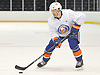 Mathew Barzal #13 skates during New York Islanders Rookie Camp at NYCB Live's Nassau Coliseum in Uniondale on Tuesday, Sept. 12, 2017.
