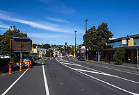 Johnsonville town centre at midday, Wednesday during lockdown for the COVID19 pandemic in Wellington, New Zealand on Wednesday, 15 April 2020. Photo: Dave Lintott / lintottphoto.co.nz