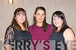 Katie Murphy, Niamh O'Sullivan and Debra Ní Shuilleabhain Dromid at the Kerry Ladies GAA banquet in the Killarney Heights Hotel on Saturday night