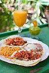 Jardines de San Juan Bautista, a Mexican restaurant in San Juan Bautista, CA. Carne Asada tacos with a fresh, apricot magarita and guacamole