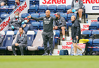 11th July 2020; Deepdale Stadium, Preston, Lancashire, England; English Championship Football, Preston North End versus Nottingham Forest; Preston North End manager Alex Neil urges his team from the technical area