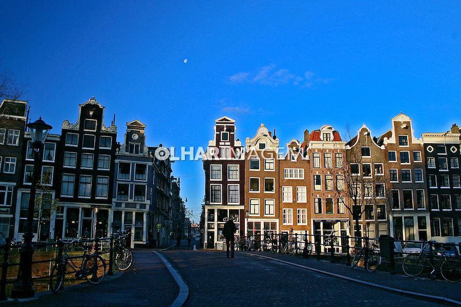 Prédios em Amsterdã. Holanda. 2007. Foto de Marcio Nel Cimatti.