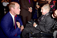 30 October 2017 - Prince William Duke of Cambridge with Winner of the Teenager of Courage Award Moin Younis at the Pride Of Britain Awards 2017 at The Grosvenor House Hotel London. Photo Credit: ALPR/AdMedia