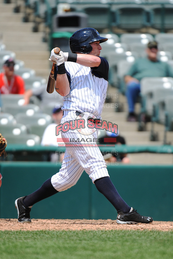 Trenton Thunder outfielder Slade Heathcott (11) during game against the Reading Fightin Phils at ARM & HAMMER Park on July 8, 2013 in Trenton, NJ.  Trenton defeated Reading 10-6.  (Tomasso DeRosa/Four Seam Images)