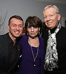 Andrew Lippa, Beth Leavel and John Epperson attends the Dramatists Guild Fund Salon with Matthew Sklar and Chad Beguelin at the home of Gretchen Cryer on December 8, 2016 in New York City.