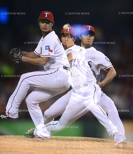 Yu Darvish (Rangers),.APRIL 30, 2013 - MLB :.The artistic shot. Yu Darvish of the Texas Rangers pitches during the baseball game against the Chicago White Sox at Rangers Ballpark in Arlington in Arlington, Texas, United States. (Photo by AFLO)