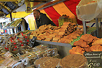 Vendor and bread in the market square, Haarlem, Netherlands