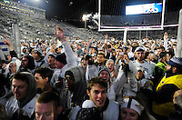 22 October 2016:  Penn State students and fans celebrate as they leave the field after filling the field and celebrating with the team after The Penn State Nittany Lions upset the #2 ranked Ohio State Buckeyes 24-21 at Beaver Stadium in State College, PA. (Photo by Randy Litzinger/Icon Sportswire)
