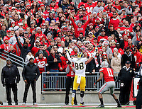 Michigan Wolverines tight end Jake Butt (88) celebrates his touchdown during the first quarter of the NCAA football game against Michigan at Ohio Stadium on Saturday, November 29, 2014. (Columbus Dispatch photo by Jonathan Quilter)