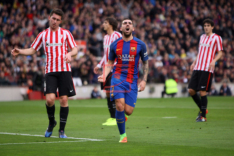 League Santander 2016/2017. Game: 21.<br /> FC Barcelona vs Athletic Club: 3-0.<br /> 1-0: Paco Alcacer.