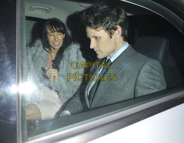 LONDON, ENGLAND - NOVEMBER 13: guest &amp; Matt Smith attend the Thom Sweeney store launch party, Thom Sweeney, Bruton Place, Mayfair, on Thursday November 13, 2014 in London, England, UK. <br /> CAP/CAN<br /> &copy;Can Nguyen/Capital Pictures