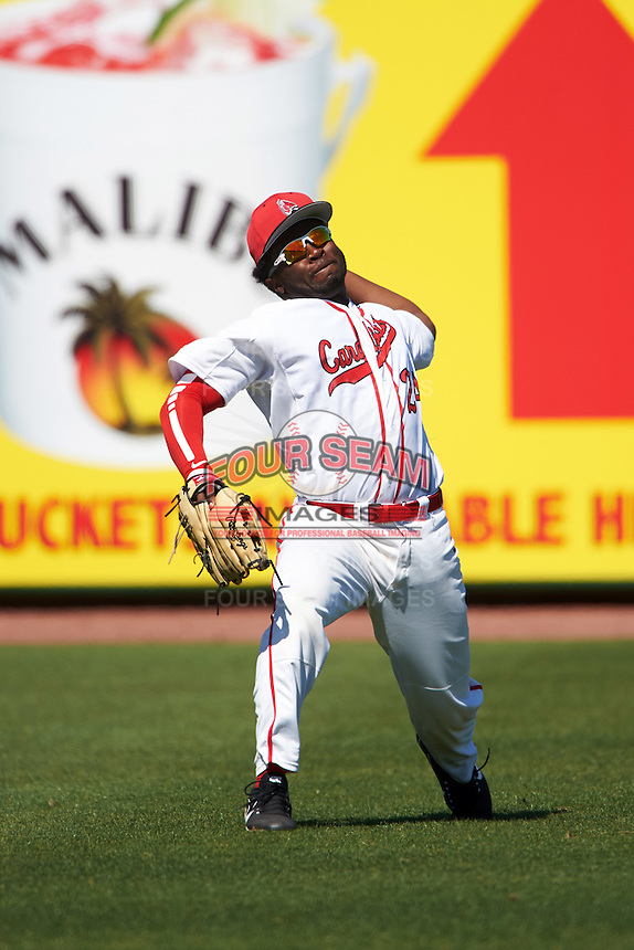 Ball State Cardinals Joe Gunn (24) during practice before a game against the Louisville Cardinals on February 19, 2017 at Spectrum Field in Clearwater, Florida.  Louisville defeated Ball State 10-4.  (Mike Janes/Four Seam Images)