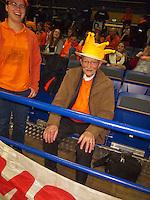 02-02-14,Czech Republic, Ostrava, Cez Arena, Davis Cup Czech Republic vs Netherlands, Opa Scheer<br /> Photo: Henk Koster