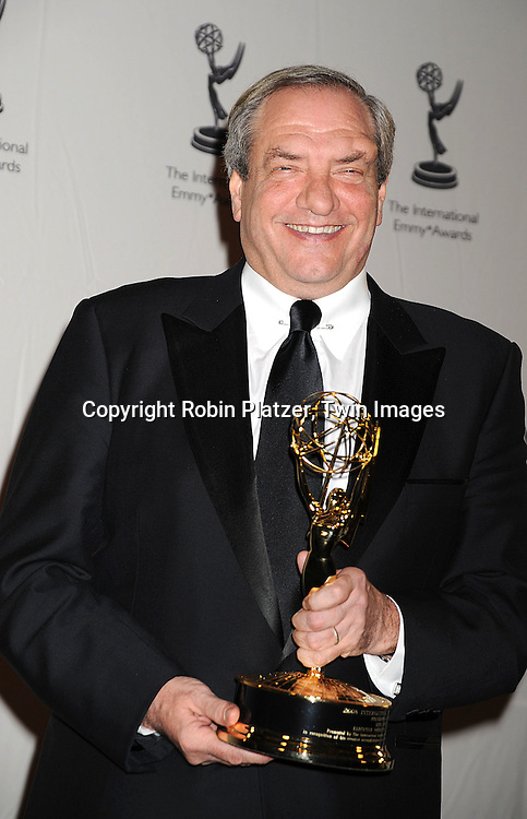 Dick Wolf, winner of The Founders Award..posing for photographers at The 36th Annual International Emmy Awards on November 24, 2008 at The New York Hilton Hotel. ....Robin Platzer, Twin Images