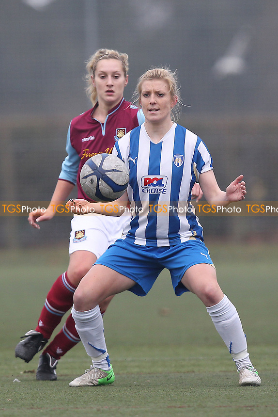 Colchester United Ladies vs West Ham United Ladies - Essex FA Womens Cup Semi-Final at Shrub End 3G, Colchester, Essex - 17/02/13 - MANDATORY CREDIT: Gavin Ellis/TGSPHOTO - Self billing applies where appropriate - 0845 094 6026 - contact@tgsphoto.co.uk - NO UNPAID USE.