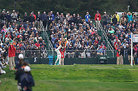 Rory McIlroy (NIR) on the 17th tee during the final round of the US Open Championship, Pebble Beach Golf Links, Monterrey, Calafornia, USA. 16/06/2019.<br /> Picture Fran Caffrey / Golffile.ie<br /> <br /> All photo usage must carry mandatory copyright credit (© Golffile | Fran Caffrey)