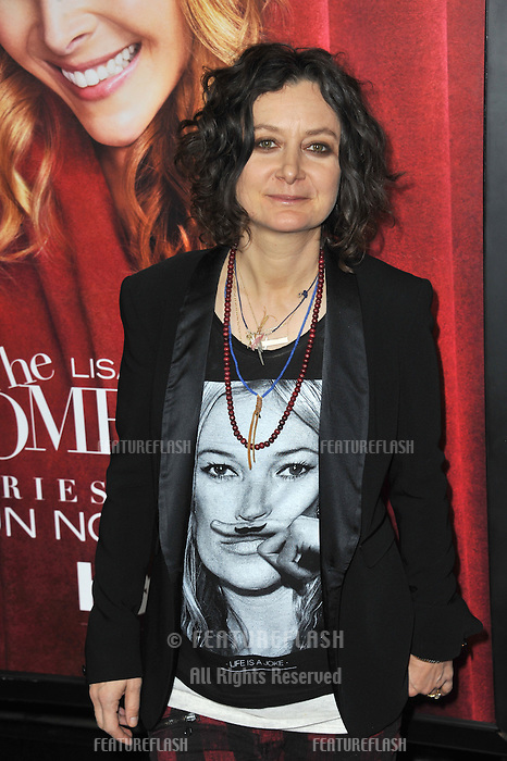 """Sara Gilbert at the premiere of HBO TV series """"The Comeback"""" at the El Capitan Theatre, Hollywood.<br /> November 5, 2014  Los Angeles, CA<br /> Picture: Paul Smith / Featureflash"""