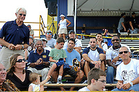 2 October 2011:  The coach (standing, left) and members of the FIU Men's Soccer team that played in the national championship match in 1996 attend the game.  The FIU Golden Panthers defeated the University of Kentucky Wildcats, 1-0 in overtime, at University Park Stadium in Miami, Florida.