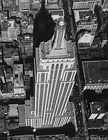 """Undated aerial photo of the<br /> Empire State Building in New York City,USA.<br /> <br /> The Empire State Building is a 102-story[c] Art Deco skyscraper in Midtown Manhattan, New York City. It was designed by Shreve, Lamb & Harmon and built from 1930 to 1931. Its name is derived from """"Empire State"""", the nickname of the state of New York. The building has a roof height of 1,250 feet (380 m) and stands a total of 1,454 feet (443.2 m) tall, including its antenna"""