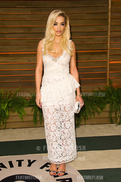 Rita Ora arriving for the 2014 Vanity Fair Oscars Party, Los Angeles. 02/03/2014 Picture by: James McCauley/Featureflash