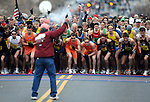 The winning woman runner, Sally Kipyego, comes into the finish line during the 74th running of the Manchester Road Race, Thursday, Nov. 25, 2010. (AP Photo/Journal Inquirer, Jim Michaud)