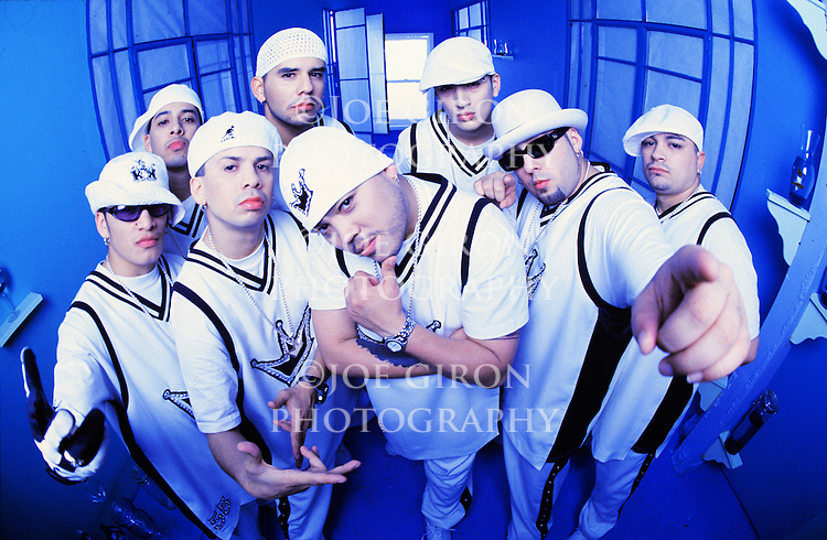 Various portrait sessions of the musical group, Los Kumbia Kings
