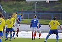 Cowdenbeath's John Armstrong scores Cowdenbeath's first goal  ...