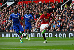 Jesse Lingard of Manchester United crosses the ball during the English Premier League match at Old Trafford Stadium, Manchester. Picture date: April 16th 2017. Pic credit should read: Simon Bellis/Sportimage