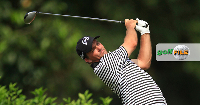 Nicholas Thompson (USA) on the 7th tee during Round 4 of the CIMB Classic in the Kuala Lumpur Golf &amp; Country Club on Sunday 2nd November 2014.<br /> Picture:  Thos Caffrey / www.golffile.ie