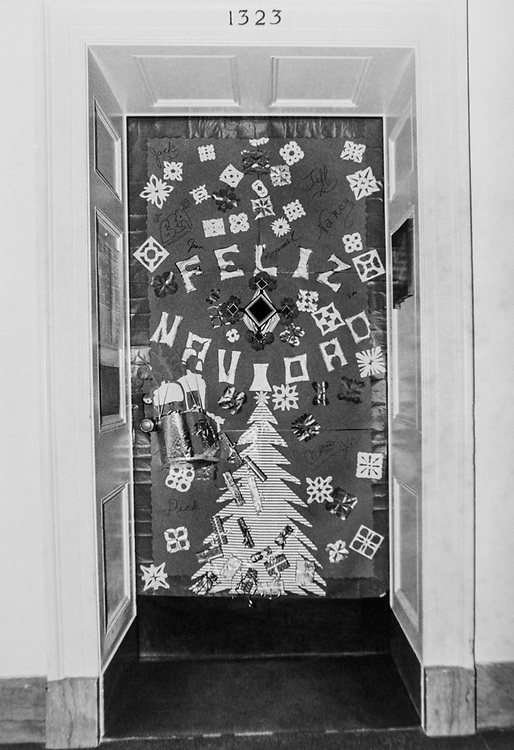 Decorated office doorway during Christmas contest. (Photo by CQ Roll Call via Getty Images)