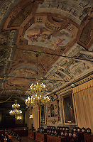 Europe/Italie/Emilie-Romagne/Bologne : Salle du Conseil - Plafond