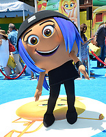 Emoji character at the world premiere for &quot;The Emoji Movie&quot; at the Regency Village Theatre, Westwood. Los Angeles, USA 23 July  2017<br /> Picture: Paul Smith/Featureflash/SilverHub 0208 004 5359 sales@silverhubmedia.com