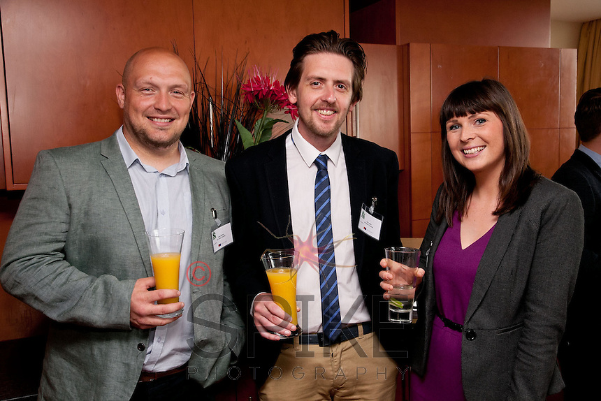 Pictured are Andy Whyles (left) and Garry Allen both from All About Tourism and Deborah McGill from Potter Clarkson